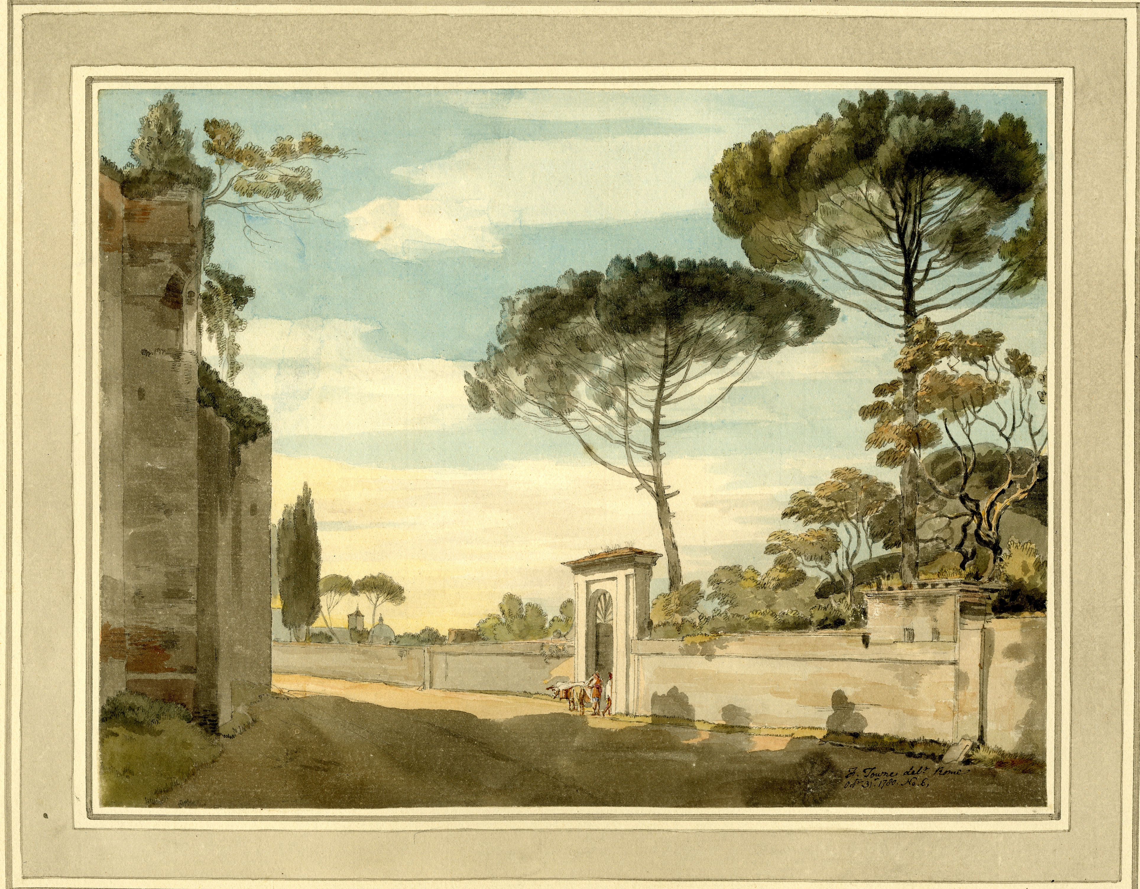 Part of the Ancient Roman Wall between Porta Salara and Porta ...
