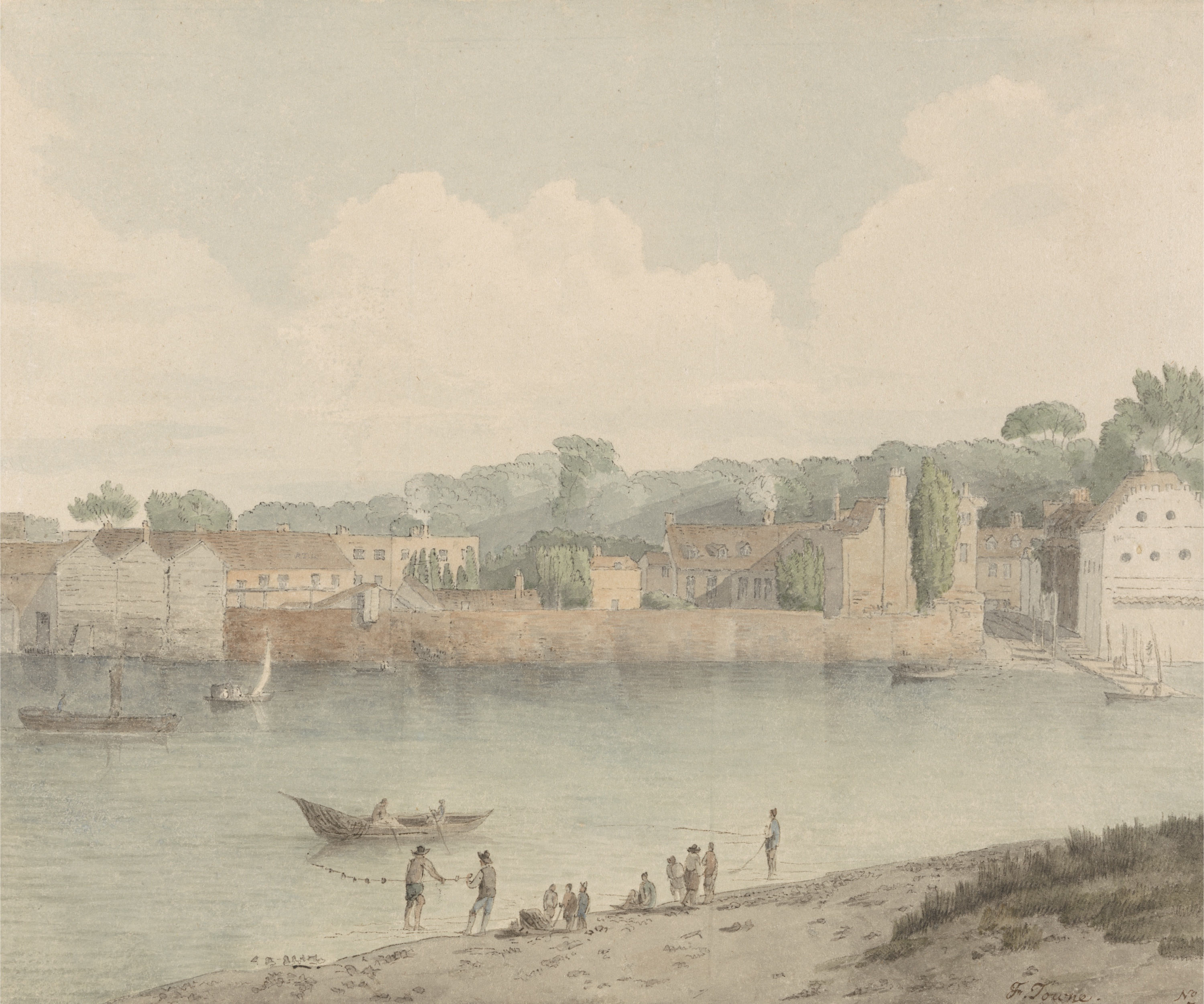 Image result for francis towne Vauxhall Stairs from Millbank. 1797