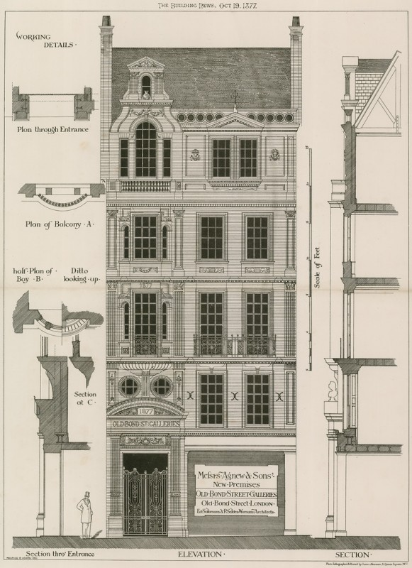 Elevation premises of Messrs Agnew & Sons