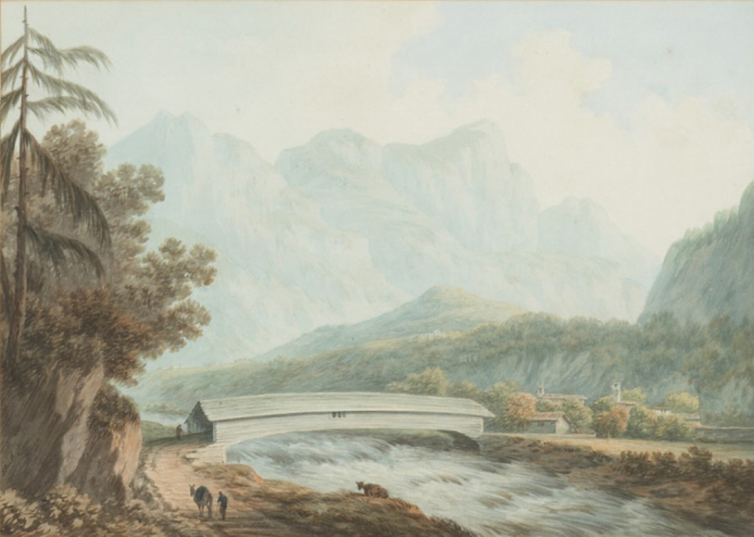 Watercolour on paper, 1785