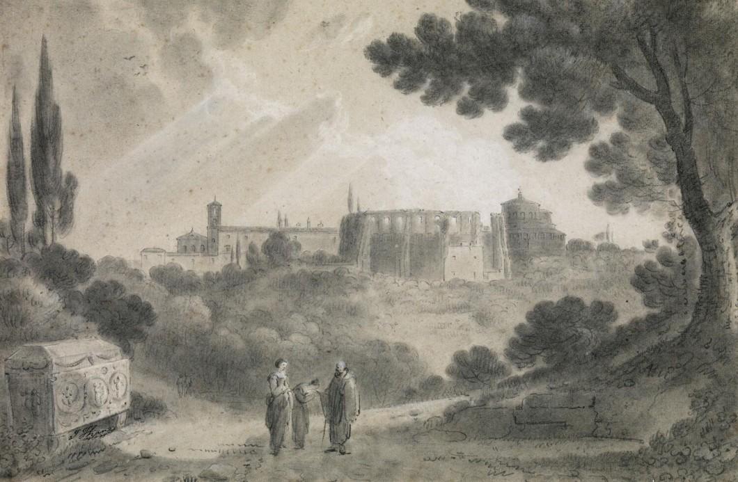 ca.1752-56 (undated), black chalk and stump on buff Italian paper